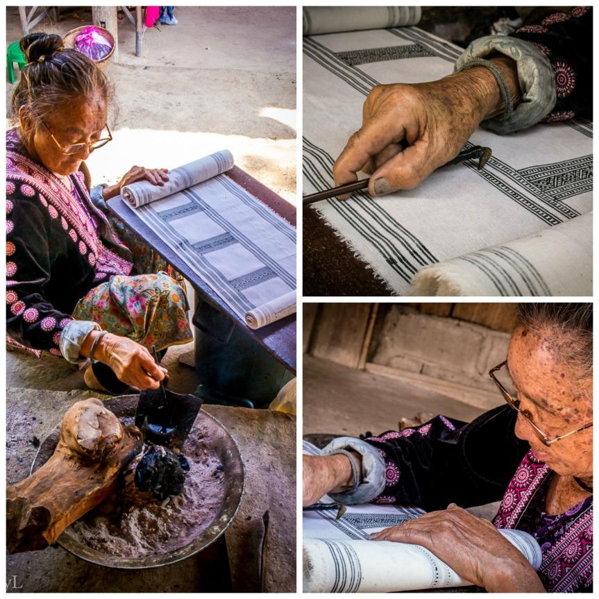 Hmong Batik Collage