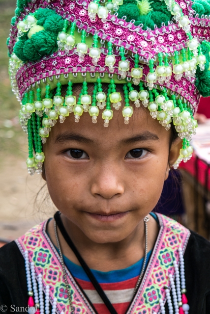 Hmong girl in costume