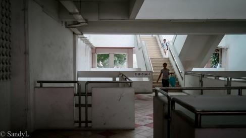 Stairwells connecting floors