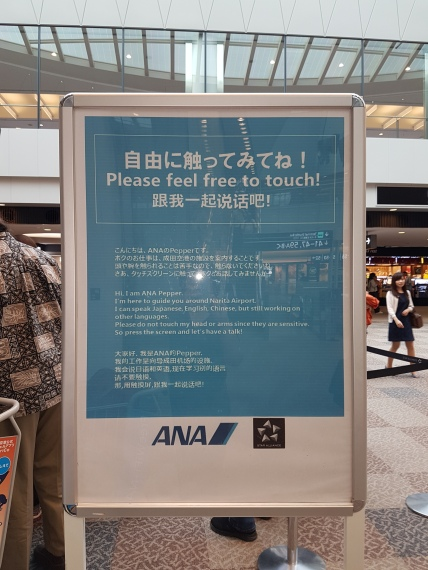 In Haneda airport