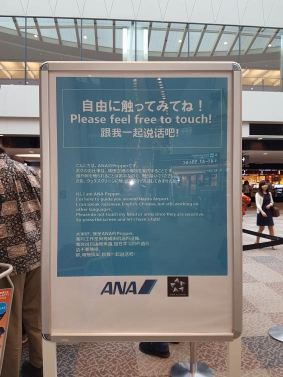 In Haneda airport