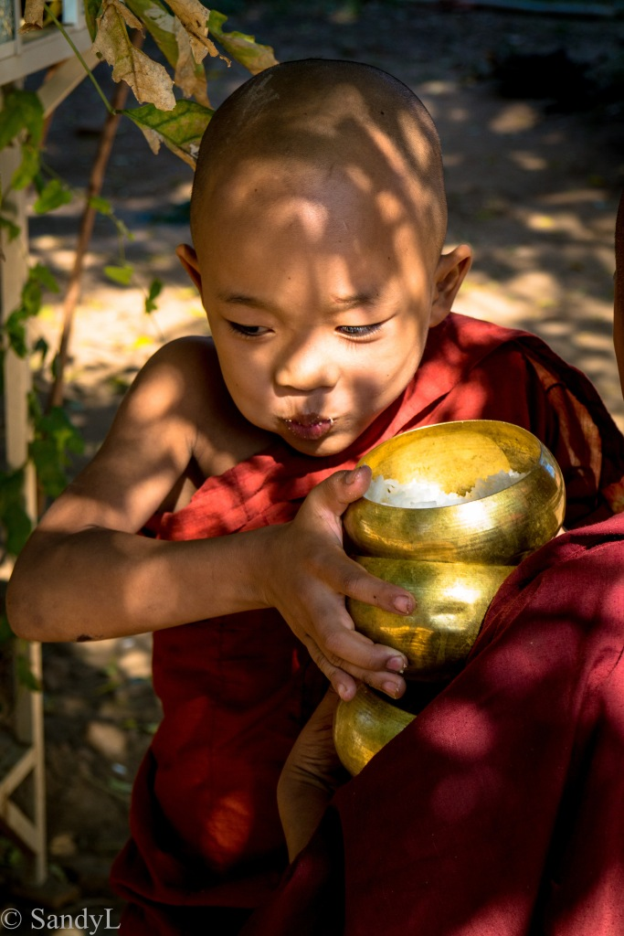 Happy little monk in Bagan Myanmar