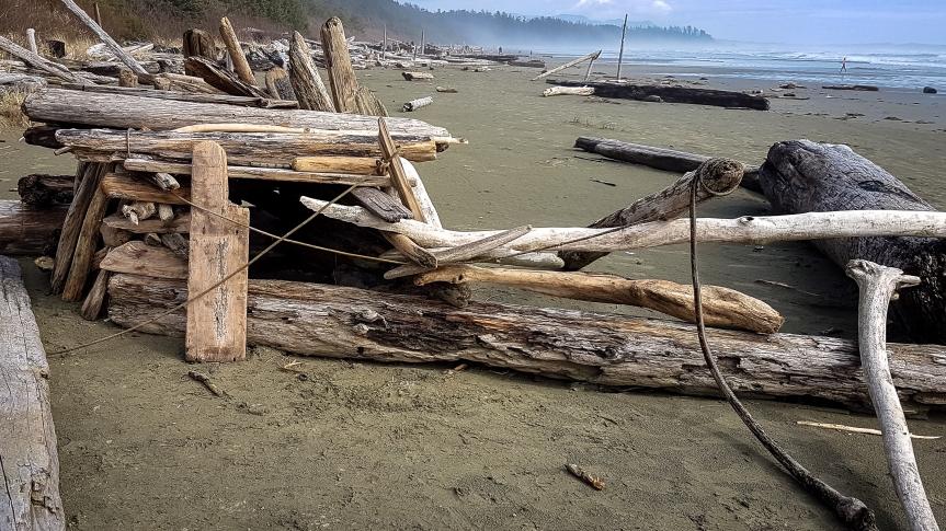 Beach Lean-to-1