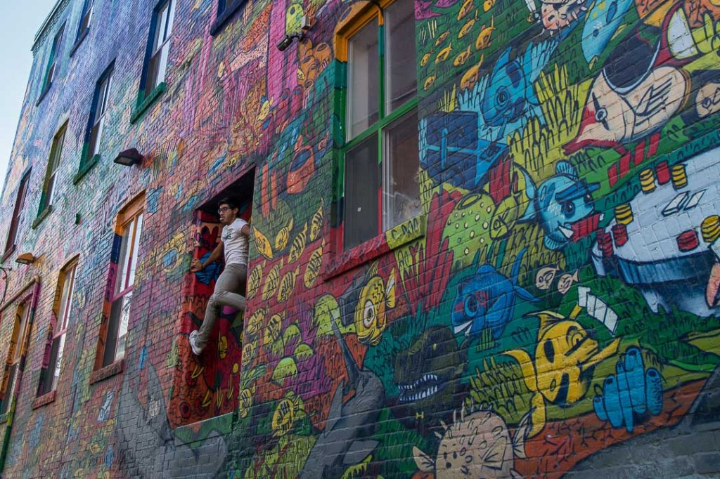 Graffiti Alley, Instagram crowd